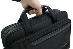 Hand carrying business suitcase - isolated Royalty Free Stock Photo