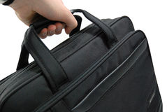 Hand carrying business suitcase - isolated Stock Image