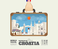 Hand carrying croatia Landmark Global Travel And Journey Infographic Bag. Vector Design Template.vector/illustration royalty free illustration