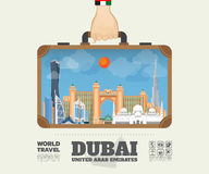 Hand carrying Dubai Landmark Global Travel And Journey Infographic Bag. Vector Design Template.vector/illustration royalty free illustration