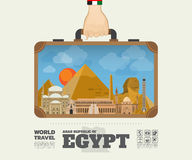Hand carrying Egypt Landmark Global Travel And Journey Infographic Bag. Vector Design Template.vector/illustration stock illustration