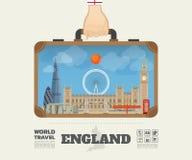 Hand carrying England Landmark Global Travel And Journey Infogra. Phic Bag. Vector Design Template.vector/illustration Stock Photo