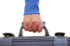 Hand carrying suitcase Royalty Free Stock Photos