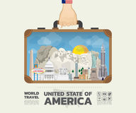 Hand carrying united state of america Landmark Global Travel And royalty free illustration