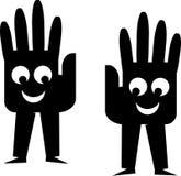 Hand cartoon royalty free illustration