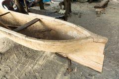 Hand carved garifuna boat in Honduras Stock Image