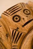 A hand carved piece of wood. In antique Stock Photography