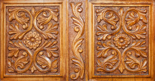 Hand carved wood Royalty Free Stock Photography