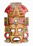 Hand carved wooden Mayan mask Royalty Free Stock Photo