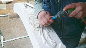 Hand carving Stock Images