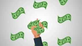 Hand with cash HD animation
