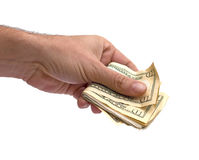 Hand and cash Royalty Free Stock Photo