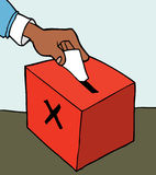 Hand casting ballot Royalty Free Stock Photos