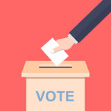 Hand casting a vote. Illustration of a hand casting a vote Stock Images