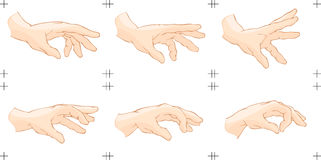 Hand Catch Animation Stock Photos