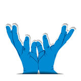 Hand catch pose Royalty Free Stock Photos