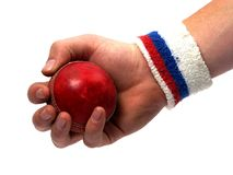 Hand catching ball Stock Images