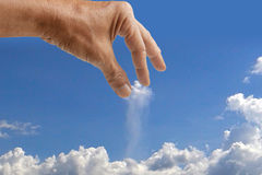 Hand catching cloud Royalty Free Stock Photos