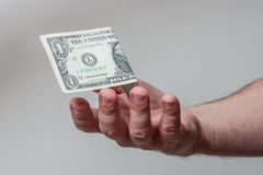 Hand Catching Money Royalty Free Stock Image