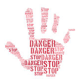 Hand Of Caution Royalty Free Stock Photography