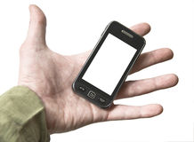 Hand cell phone Royalty Free Stock Photos