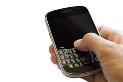 Hand with cell phone Royalty Free Stock Photo