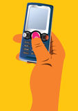 Hand with cellphone Royalty Free Stock Image