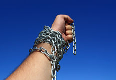 Hand chain Royalty Free Stock Photos