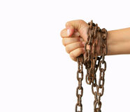 Hand with chain Royalty Free Stock Photography