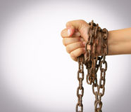 Hand with chain Royalty Free Stock Photos