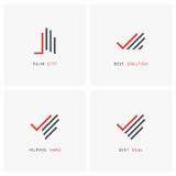 Hand with check mark - business logo set royalty free illustration