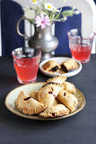 Hand cherry pies Royalty Free Stock Images