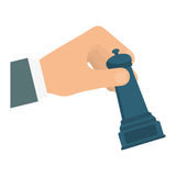 Hand and chess icon. Solution design. Vector graphic Royalty Free Stock Photos