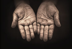 Hand of child beggar Royalty Free Stock Images