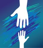 Hand of the child in father  Royalty Free Stock Photo