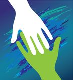 Hand of the child in father encouragement. Stock Photo