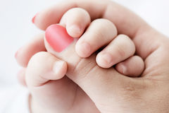 Hand of the child in a hand of mother Royalty Free Stock Photography