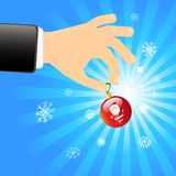 Hand with Christmas decoration Royalty Free Stock Photos