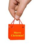 Hand with Christmas gift Royalty Free Stock Photography