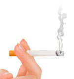 Hand with cigarette Stock Image