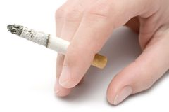 Hand with Cigarette Royalty Free Stock Photos