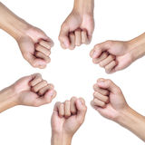 Hand circle. Fist isolated on a white background Stock Images