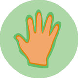 A hand on a circle Royalty Free Stock Photo