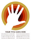 Hand circle design. Stock Images