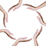 Hand in circle position Royalty Free Stock Images