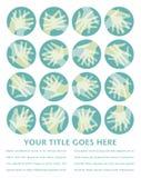 Hand circles design. Royalty Free Stock Image