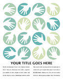 Hand circles design. Stock Image