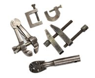 Hand clamps Royalty Free Stock Images