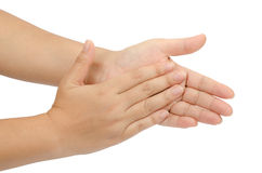 Hand claping Stock Image