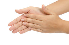 Hand claping Stock Images